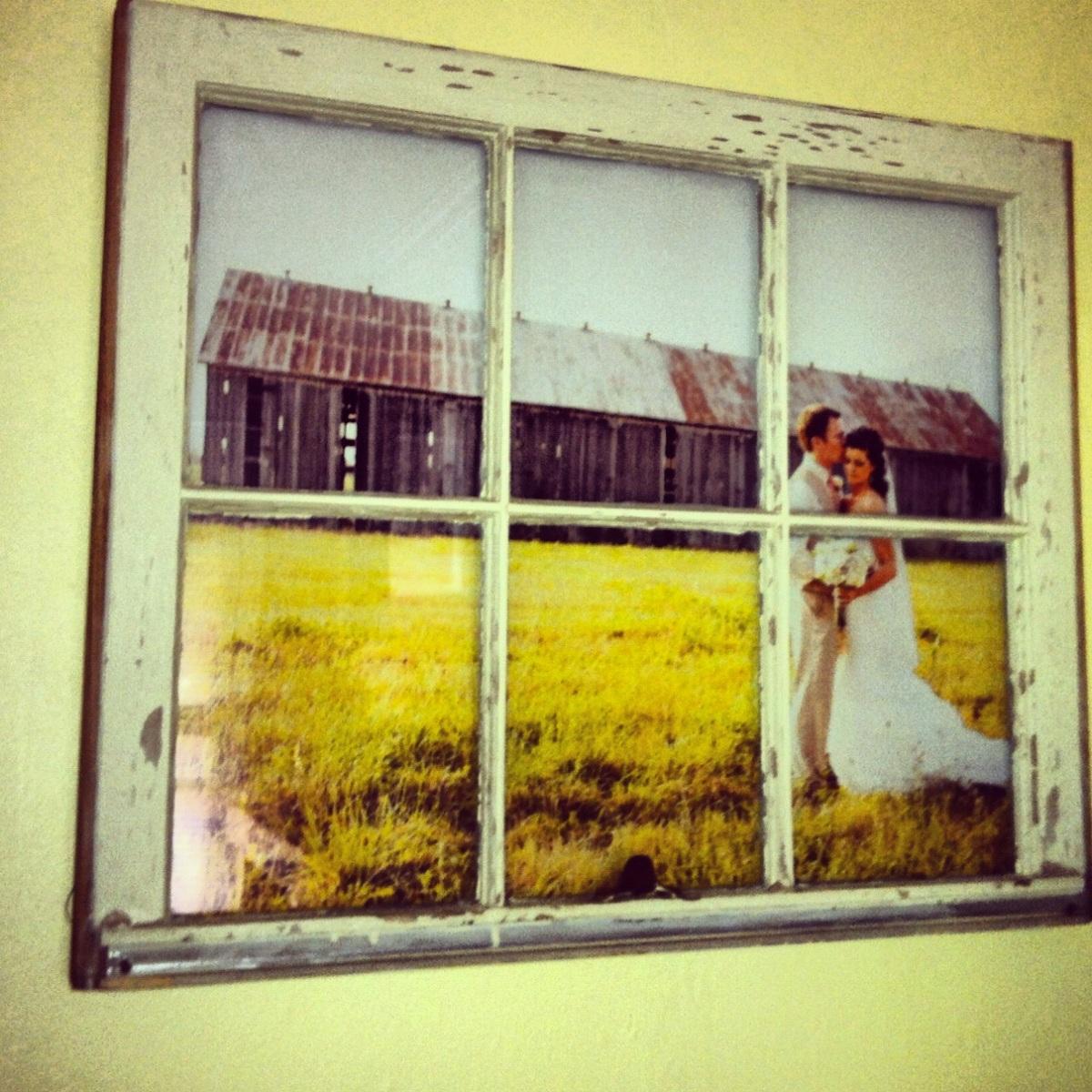 diy vintage window pane picture frame the hilliard home. Black Bedroom Furniture Sets. Home Design Ideas
