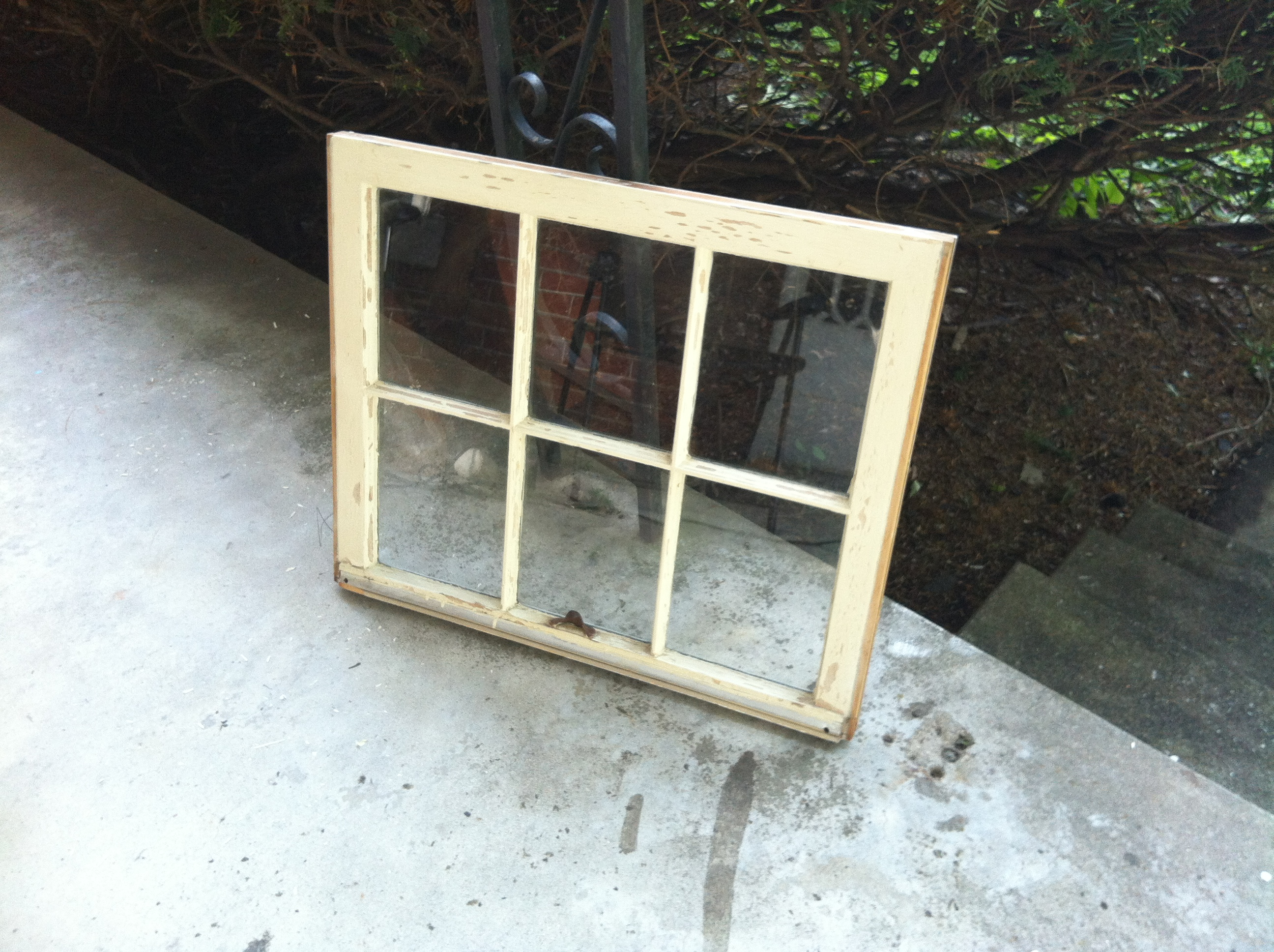 distressed window pane diy