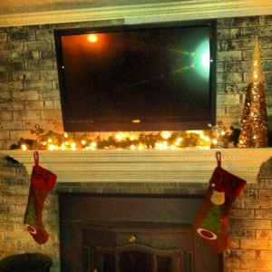 Basement Christmas Mantle